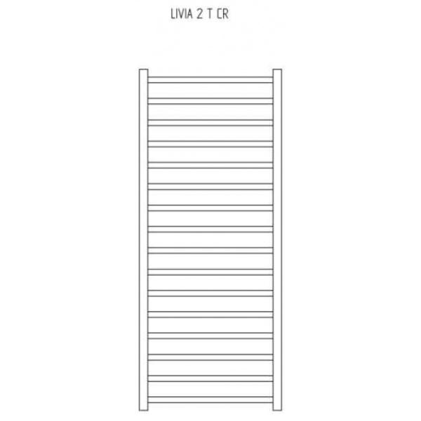 RADECO LIVIA 1 T CR  800X500 Design egyenes törölköző szárító radiátor 182 WATTOS