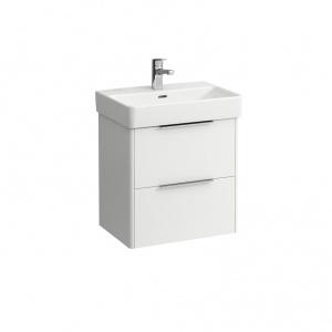 Laufen Base Alsószekrény két fiókos, matt fehér, kompakt, 51x35,8