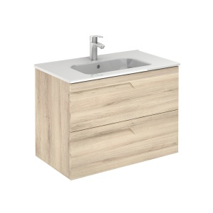 Vitale 80-As Fürdőszobabútor Fali Kyra mosdóval , Nature Beige Színben