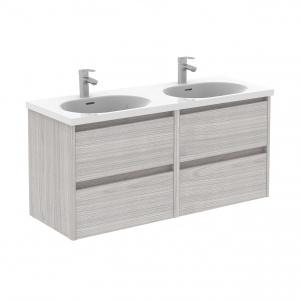 Sansa 120-As Fürdőszobabútor Fali, Sandy Grey Színben, Slim mosdóval