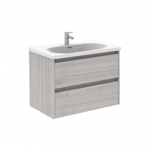 Sansa 70-As Fürdőszobabútor Fali, Sandy Grey Színben, Slim mosdóval