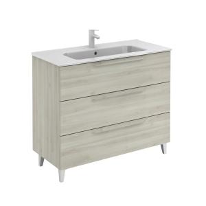 Bannio Urban 100-As Fürdőszobabútor szett, Nature White színben, Slim mosdóval