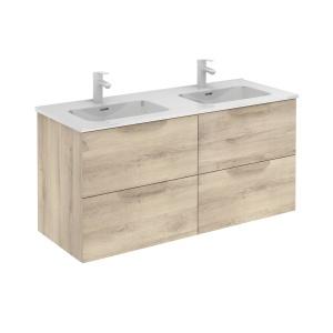 Bannio Urban 120-As Fürdőszobabútor szett, fali, Nature Beige színben, Enzo mosdóval