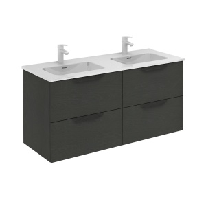 Bannio Urban 120-As Fürdőszobabútor szett, fali, Nature Grey színben, Enzo mosdóval