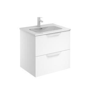 Bannio Urban 60-As Fürdőszobabútor szett, fali, White Matt színben, Enzo mosdóval