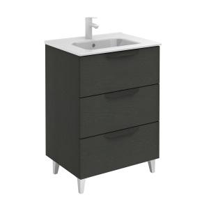 Bannio Urban 60-As Fürdőszobabútor szett, Nature Grey színben, Slim mosdóval