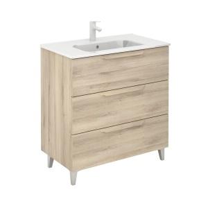 Bannio Urban 80-As Fürdőszobabútor szett, Nature Beige színben, Slim mosdóval