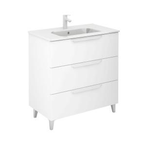 Bannio Urban 80-As Fürdőszobabútor szett, White Matt színben, Slim mosdóval
