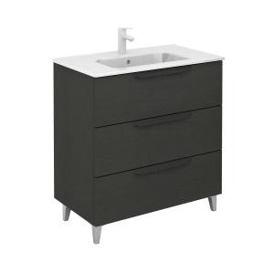 Bannio Urban 80-As Fürdőszobabútor szett, Nature Grey színben, Slim mosdóval