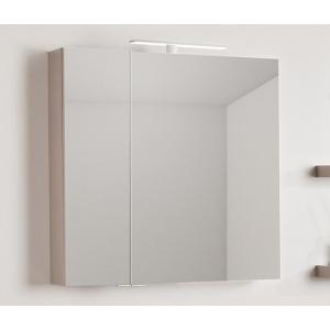 Amazonas Nero 70x70-es, két ajtós tükör, fényes Dizájn tóp színben, L2 LED lámpával