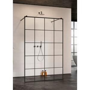 Radaway Modo New Black I Factory Walk-in fekete zuhanyfal 120cm
