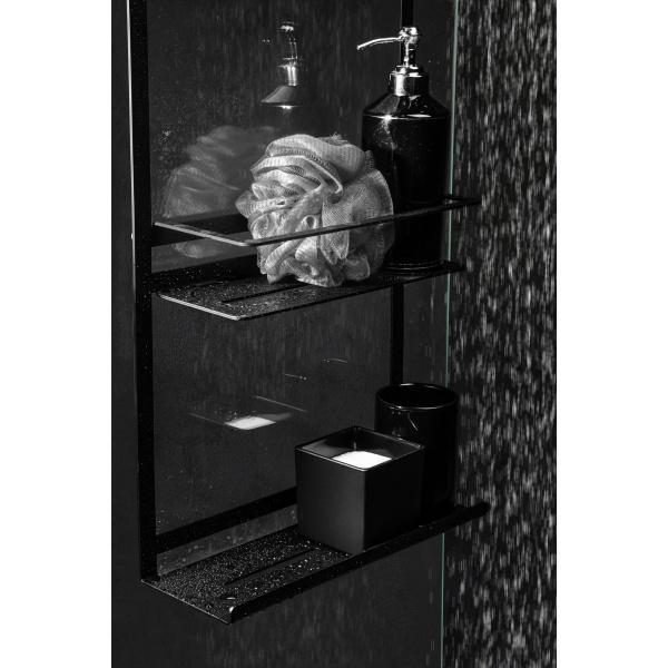 Deante MOKKO zuhanykabnira akasztható polc - Fekete (06ADMN52K)