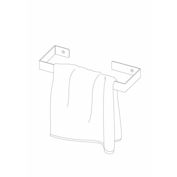 Deante MOKKO törölköző tartó 30cm - Fekete (06ADMN611)