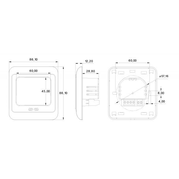 WARM TILES Digitális univerzális termosztát fűtőszőnyeghez 0 (124091)
