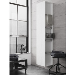 Cersanit Bútor City Állószekrény, Fehér (S584-002) 35x180x30 cm, Kiállított darab
