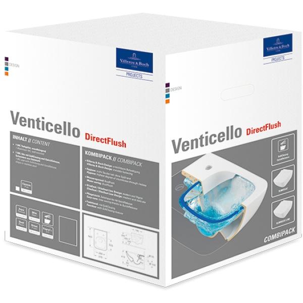Villeroy & Boch Venticello Fali-Wc Kombipack, Slim Tetővel, DirectFlush (4611 RS 01)