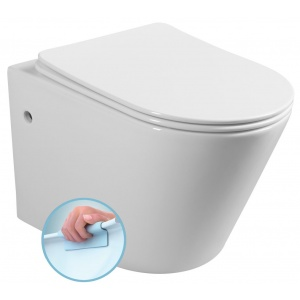 Sapho PACO RIMLESS fali WC, Soft-Close Slim ülőke, 36x52,5cm (PZ1012R)